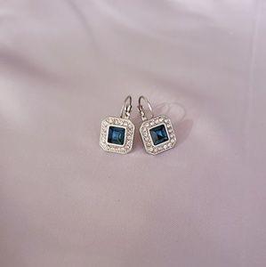 QVC faux Topaz & CZ Earrings